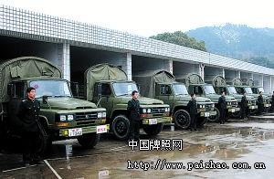 中国军车换新牌我军车牌历经五代